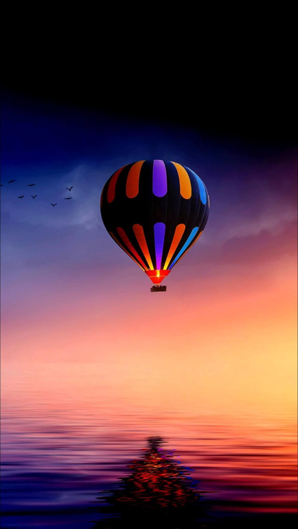 Hot air balloon 4k mobile wallpaper