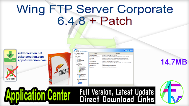 Wing FTP Server Corporate 6.4.8 + Patch