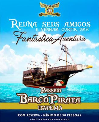 passeio barco pirata itapema