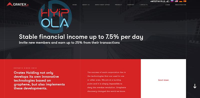 Review Gratex - Dự án dài hạn từ Thuỵ Điển - Lãi từ 2% hằng ngày