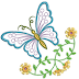 Beautiful butterfly Free Embroidery Design #1131
