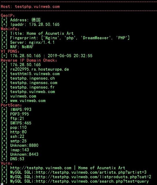 Vxscan - Comprehensive Scanning Tool