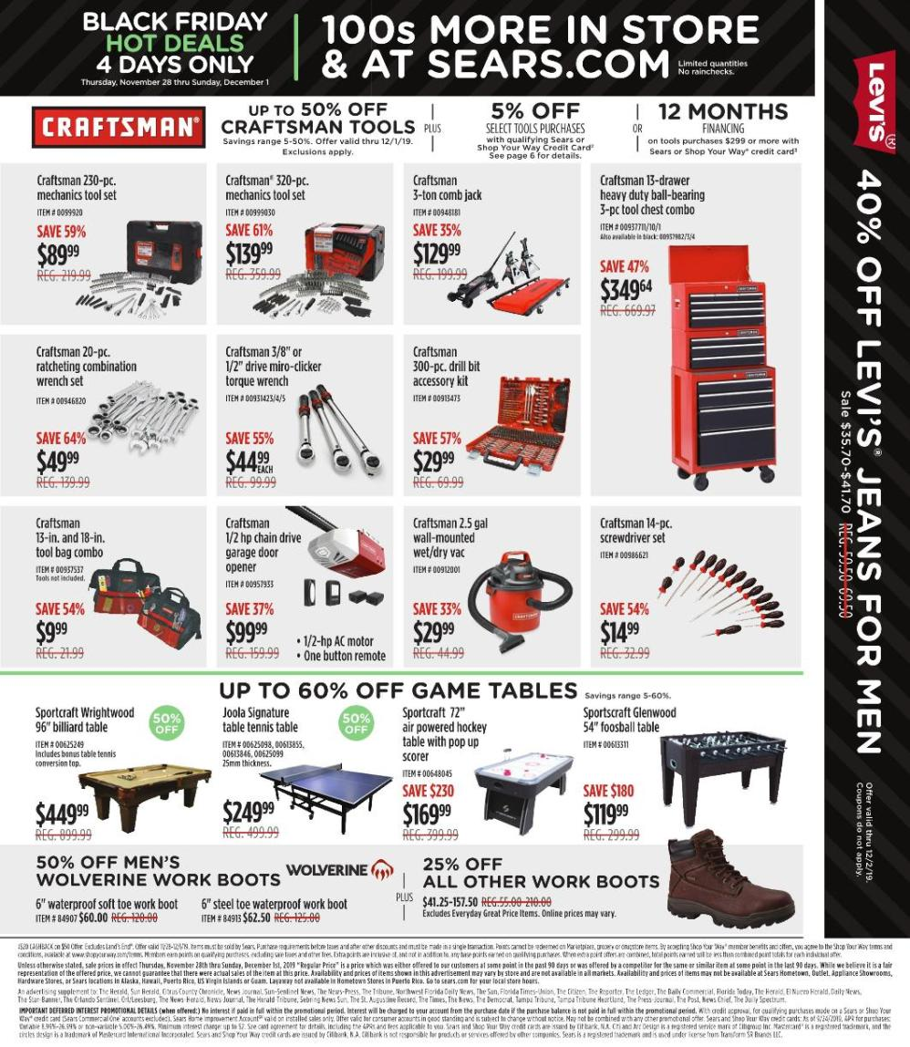 Sears Black Friday 2019 Page 3