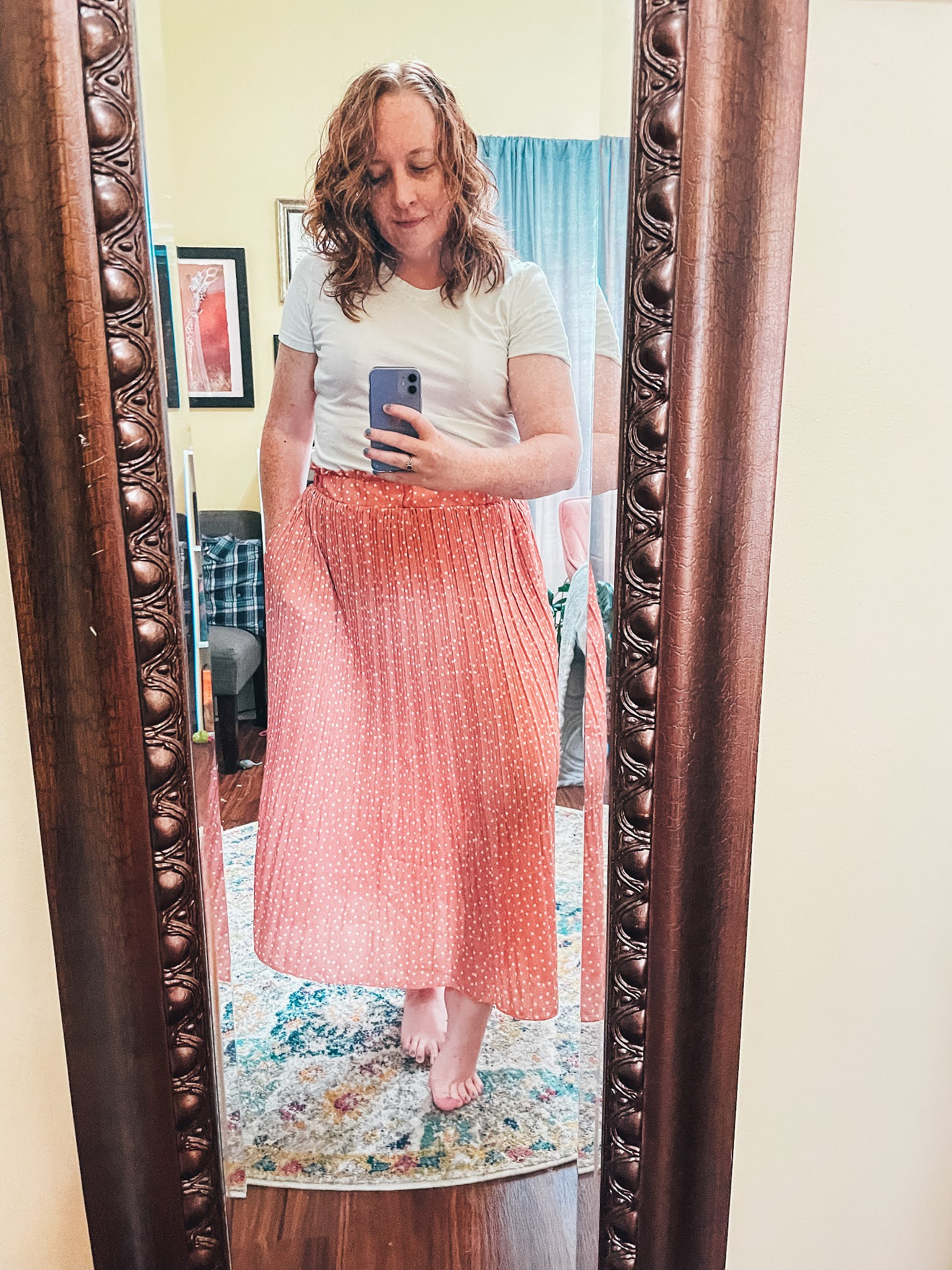 pink-polka-dot-skirt