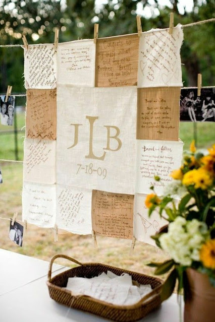 Fabric Quilt Guest book - Wedding Soiree Blog by K'Mich, Philadelphia's premier resource for wedding planning and inspiration - El blog7