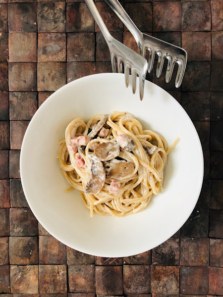 Spaghettis façon carbonara