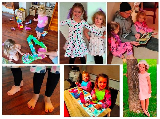 School holidays mean time for a few days of grandgirl fun. Their most recent three day visit included toys, stories, purple hair, pink toenails, and walks around the neighbourhood.