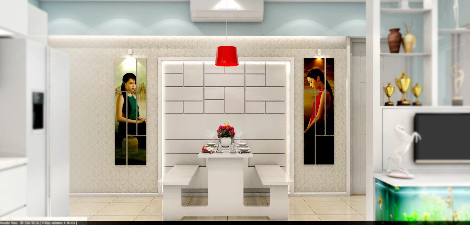 Free sketchup 3d model living room, kitchen & dining area #29