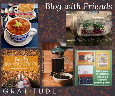 Blog With Friends, a multi-blogger project based post incorporating a theme, Gratitude. | Featured on www.BakingInATornado.com