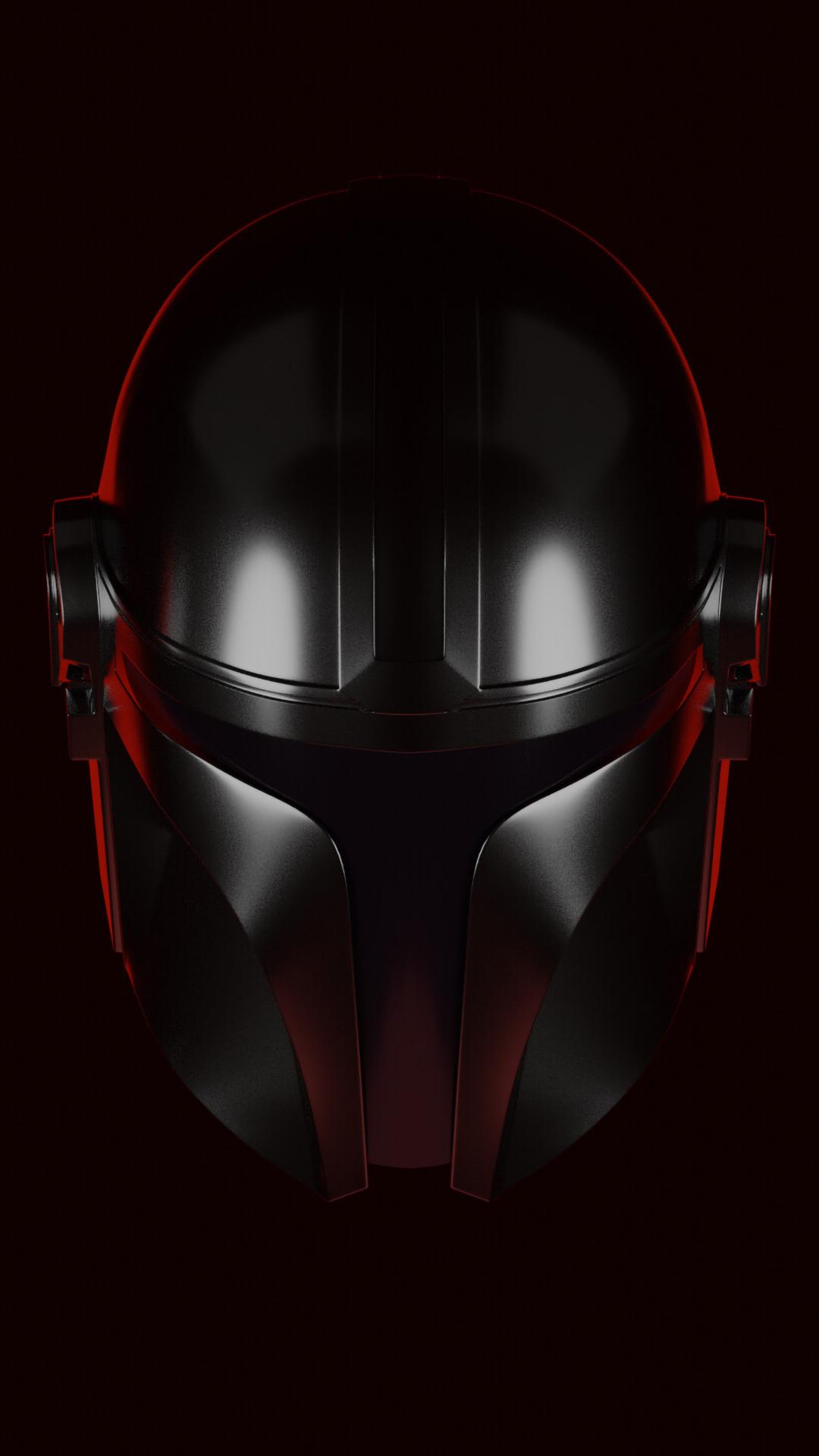 Mandalorian Helmet Wallpaper 4k