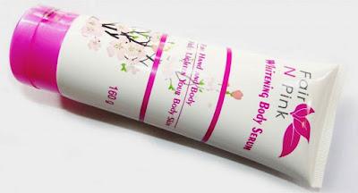 Fair n Pink Whitening Body Serum Melindungi Kulit Dari Sinar UV, Melembabkan, Mengontrol Minyak Sekaligus Mencerahkan Kulit