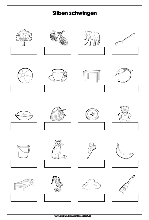 Grundschultante Silbenmaterial Arbeitsblätter