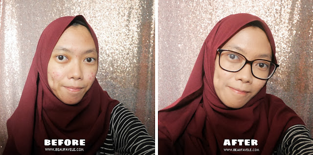 Hasil pakai Wardah Flawless Cushion shade 04 Natural