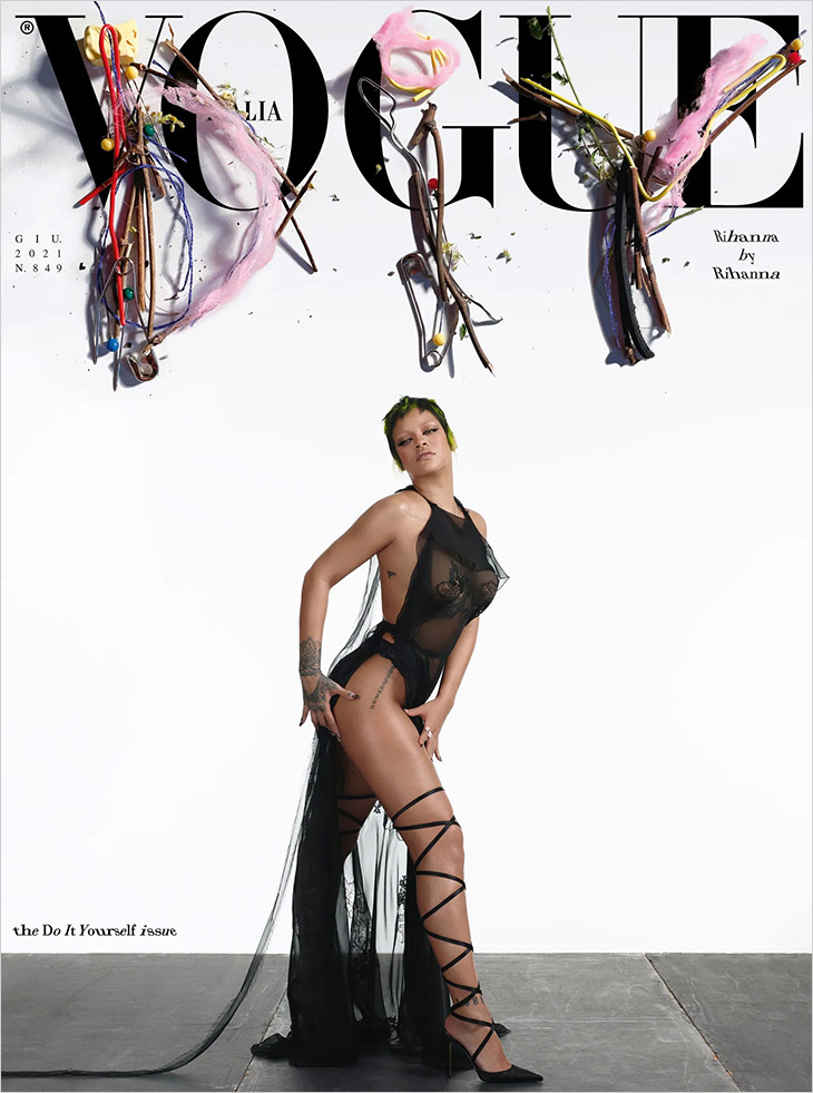 Rihanna is the Cover Star of Vogue Italia June 2021 Issue