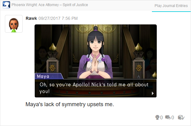 Phoenix Wright Ace Attorney Spirit of Justice Maya Fey meets Apollo