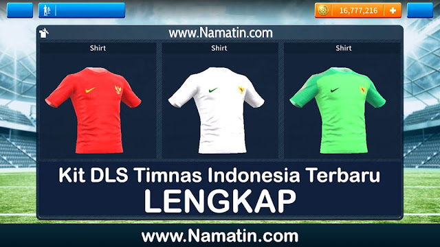 Kit Dream League Soccer Timnas Indonesia Lengkap