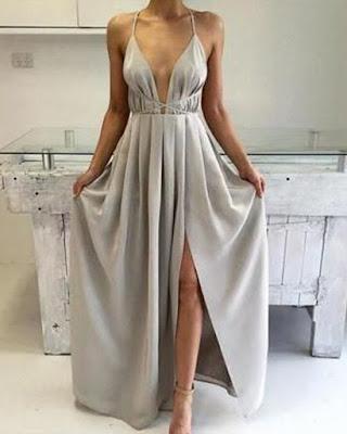 vestido color plateadol invitada boda