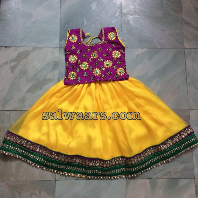 Yellow Lehenga Stone Work Blouse