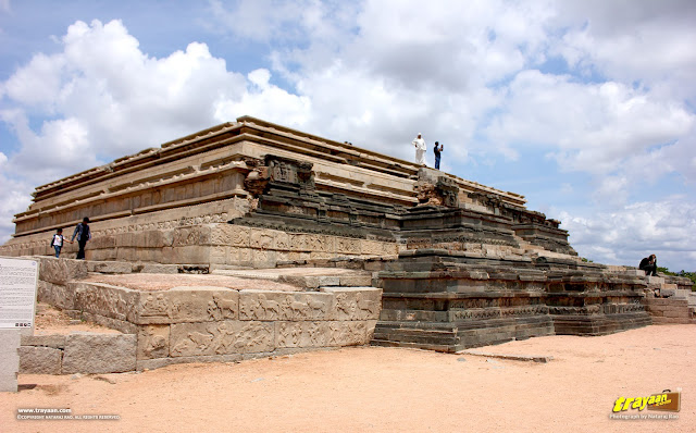 Mahanavami dibba or the great platform in Royal enclosure in Hampi, Ballari district, Karnataka, India