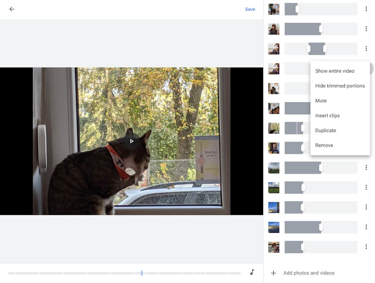 Google Photos on Web now comes with a new timeline editor for movies