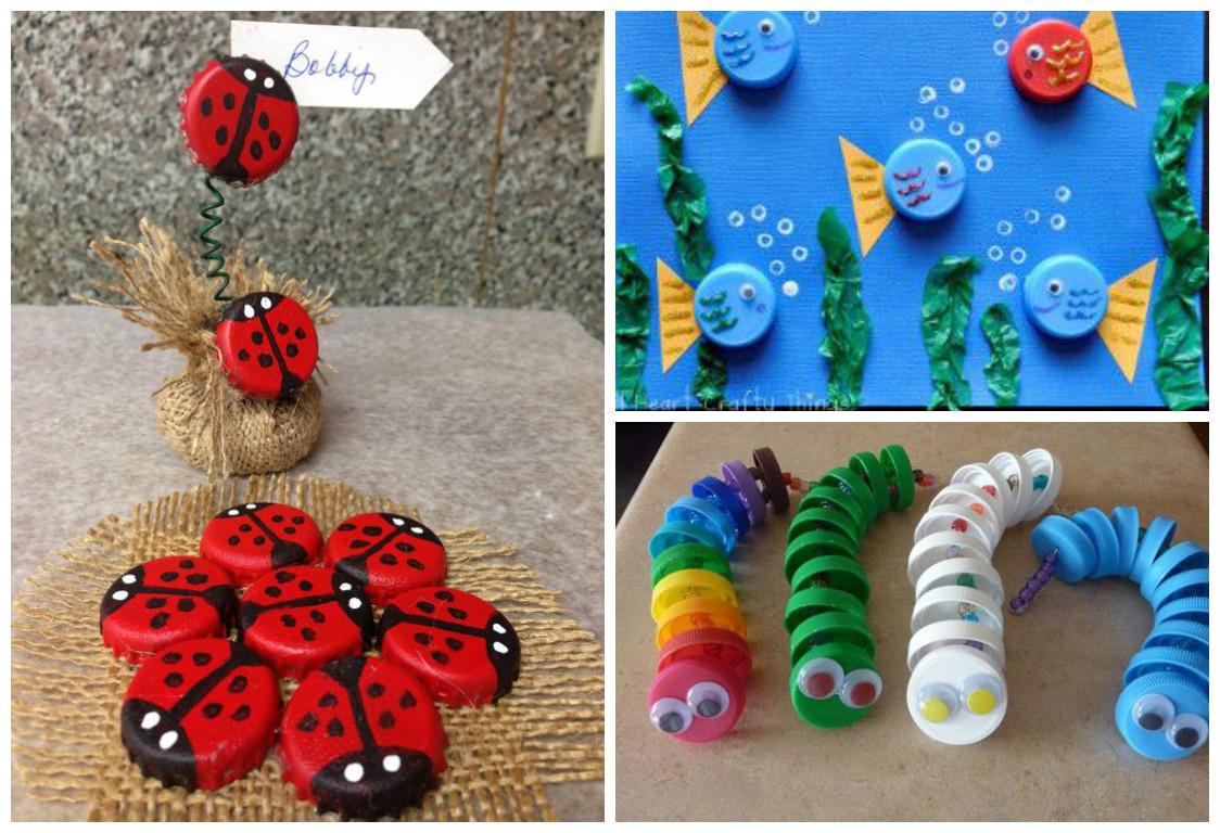 11 ideas ingeniosas reciclando tapas de pl stico - Cosas para jardin ...
