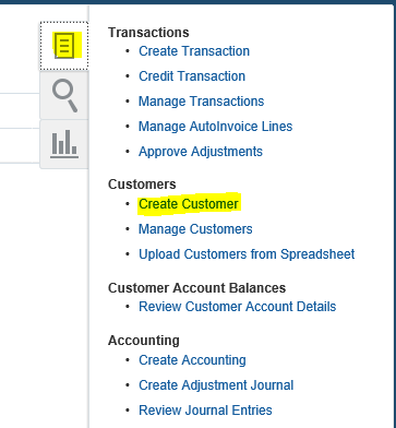 Creating Customer in Oracle Fusion