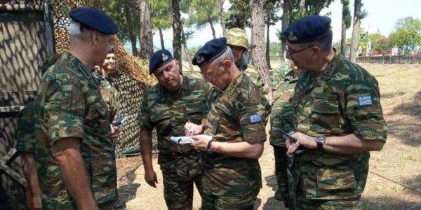 Επίσκεψη του Αρχηγού ΓΕΣ στην Χαλκιδική.