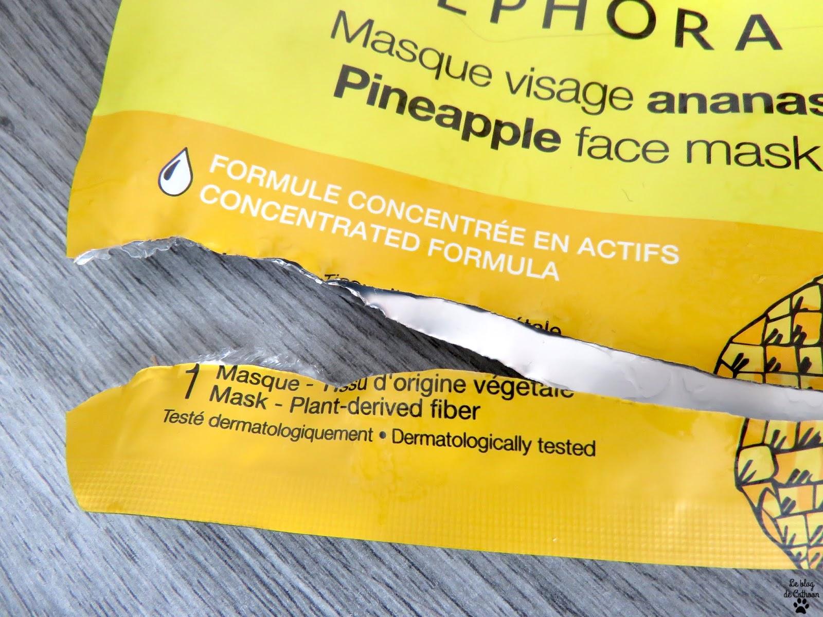 Masque Visage Ananas - Perfecteur Pores Lissant - Sephora