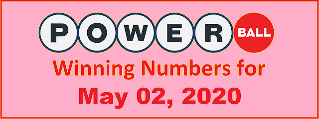 PowerBall Winning Numbers for Saturday, May 02, 2020