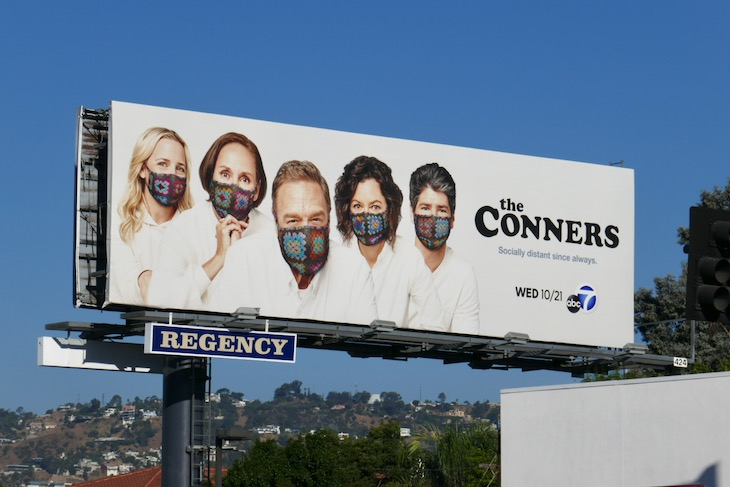 Conners season 3 crochet face masks billboard