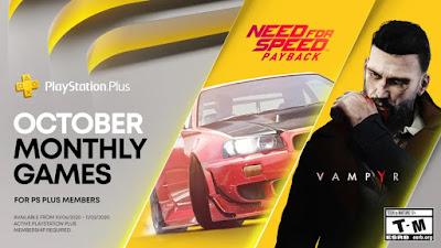 October 2020 PlayStation Plus