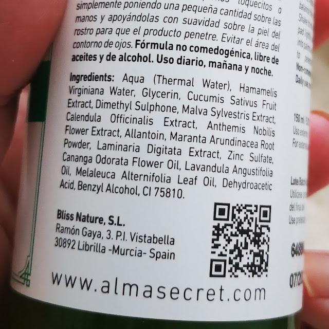 tónico ingredientes
