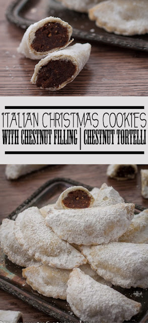 Yummy Italian Christmas #Cookies with Chestnut Filling | Chestnut Tortelli #Recipe #dessert