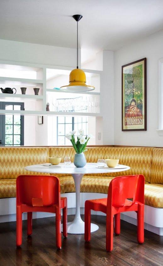 Mesa con banco esquinero mesa de madera con banco - Banco rinconero para cocina ...