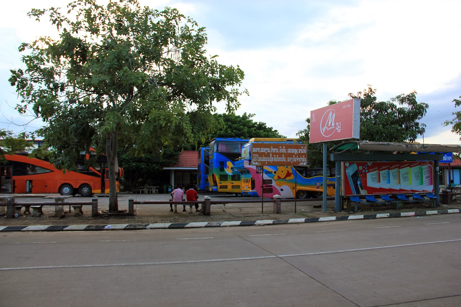 Chitpasong bus station in Pakse