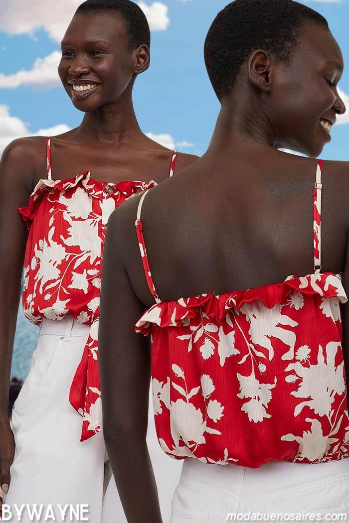 moda primavera verano 2021 tops mujer
