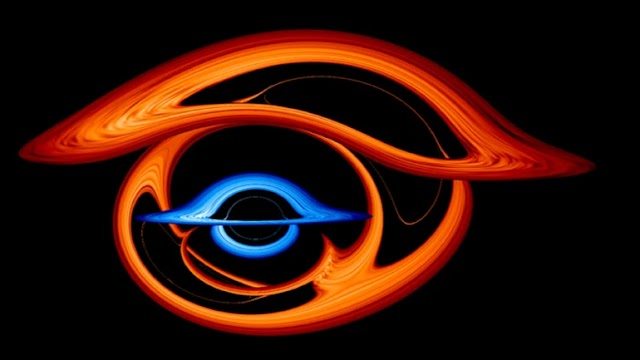Two Supermassive Black Holes Bend Light in Spectacular Interlocking Rings