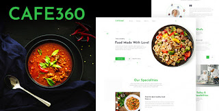 Cafe360 | Restaurant One Page PSD Template