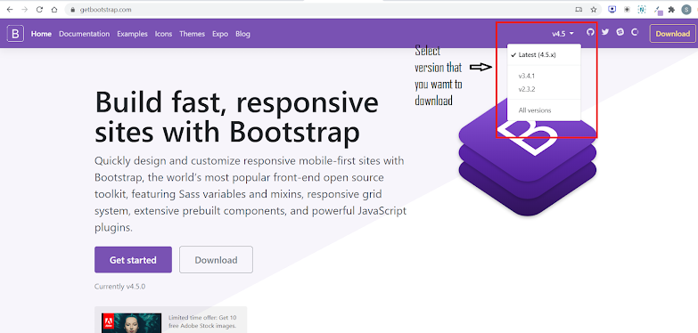 Getbootstrap Home Page