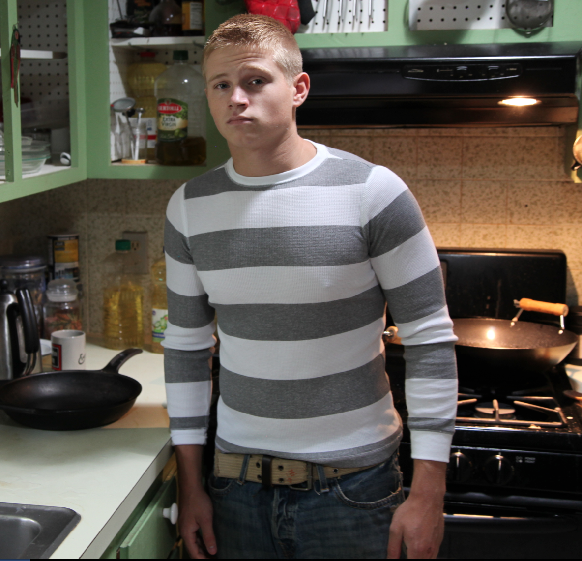 LEATHER STRAP SPANKING: TEEN CUTIE NICK GETS SPANKED ON
