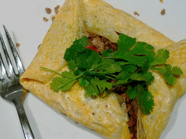 Thai Stuffed Omelettes | Chicken filling