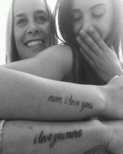 Tatuajes de madre e hija antebrazo
