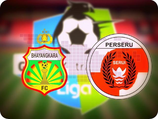 Bhayangkara FC Kalahkan Perseru Serui 2-1