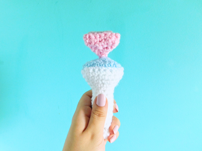 SEVENTEEN Light Stick Plush Crochet Pattern