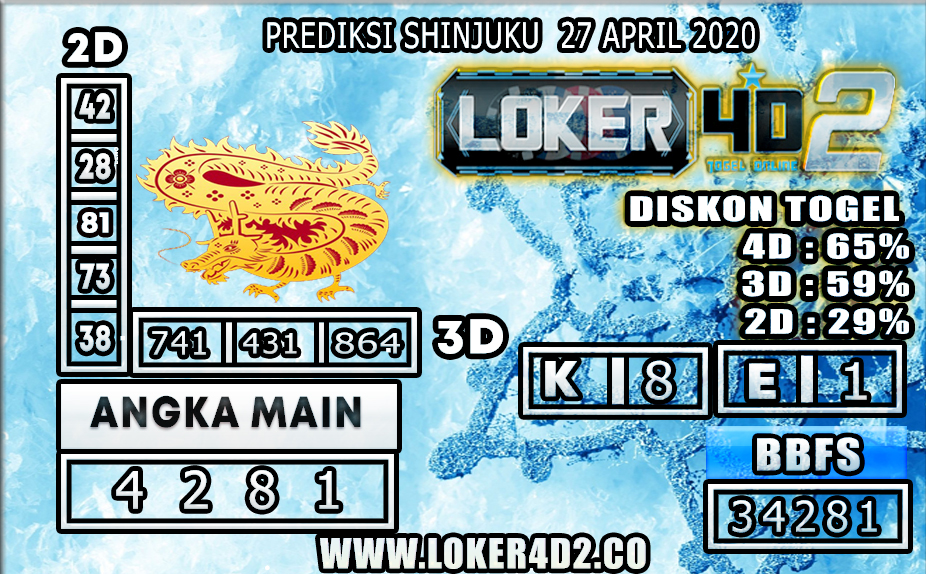 PREDIKSI TOGEL SHINJUKU LUCKY 7 LOKER4D2 27 APRIL 2020