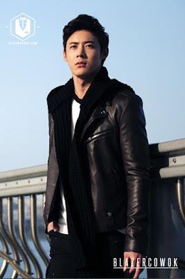 blazer cowok blazercowok.com jaket korean jas pria sk44 brown b