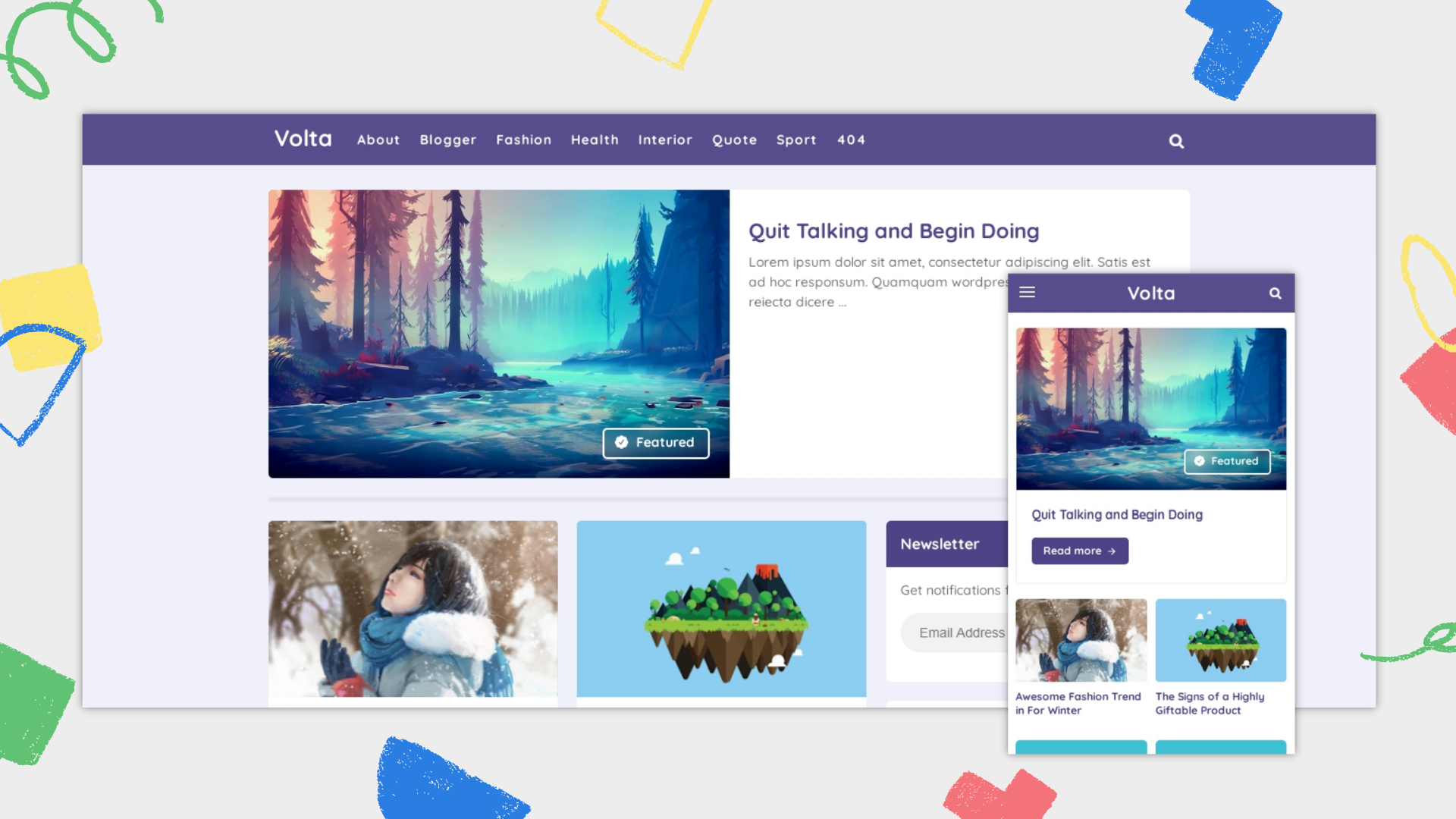 volta-responsive-blogger-template