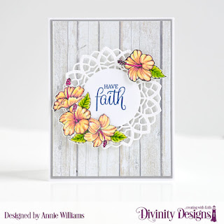 Stamp/Die Duos: Great Faith Dies: A2 Portrait Card with Layers, Matting Rectangle, Delicate Doily Paper Pad: Weathered Wood