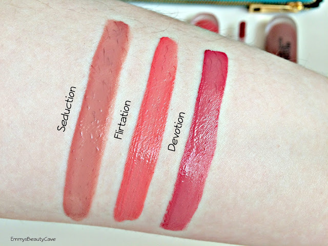 Revlon Ultra HD Matte Lip Color Swatches Devotion Seduction Flirtation