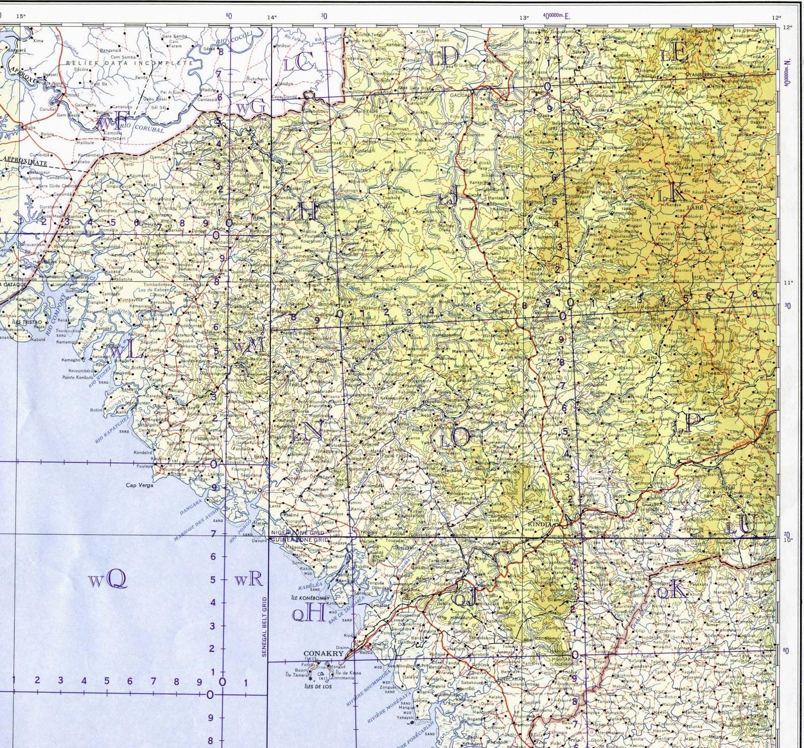 Guiné | Mapas Geográficos da Guiné